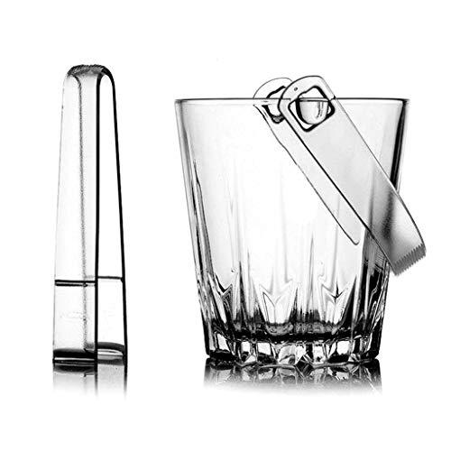 SXRKRZLB Cubiteras Europeo de Cristal Importado Cubo de Hielo Ktv Commercial Bar Cubo de Hielo Enfriador de Cerveza fría Cubo (Color : A)