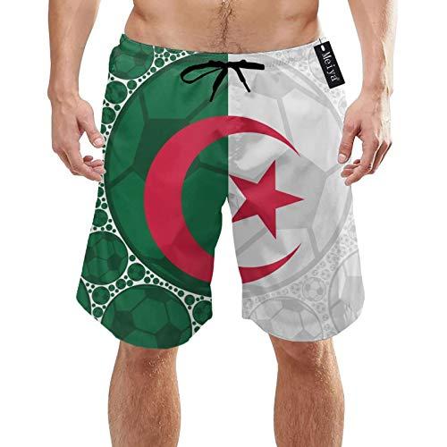 Ilustración de Concepto Elefante Blanco Que Muestra la Bandera de Argelia compuesta de balones de fútbol XL