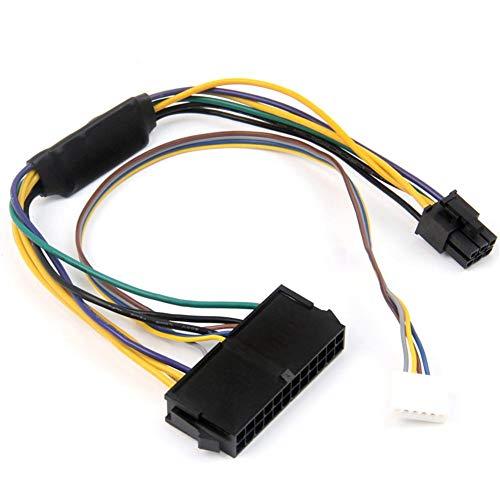 winnerruby Cable de alimentación/Adaptador de 24 Pines a 6 Pines para HP Elite 8100 8200 8300 800G1 ATX 2 Puertos 6 Pines PCI-E, Conectado a una Placa Base HP