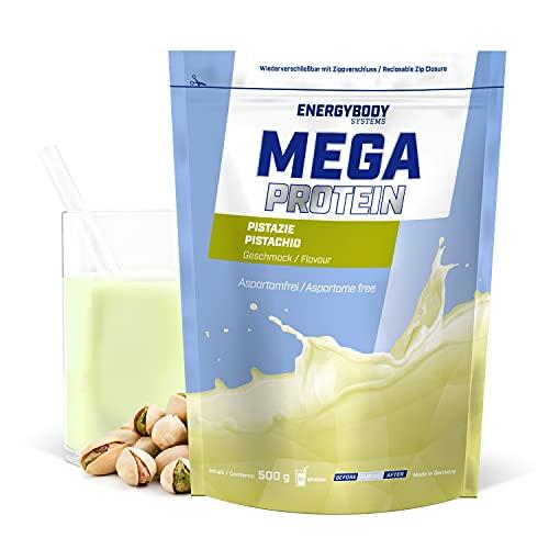 """Energybody Mega Protein """"Pistazie"""" 500 g / Eiweißpulver mit Whey Protein & Casein Pulver / Protein Pulver ohne Aspartam / Proteinpulver als Eiweiss Shake / 20 Portionen"""