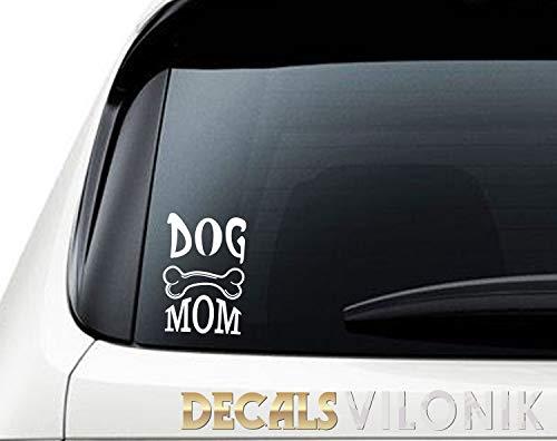 H421ld DOG MOM - Vinilo adhesivo para ventana de coche, taza de botella de agua, smartphone, tableta, iPad, MacBook, portátil, etiqueta engomada del coche, madre