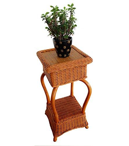 ZhuFengshop support à fleurs Support De Fleurs Plante Plateau En Rotin Support À Plusieurs Couches Plateau Pour Bac À Fleurs Cadre Pour Bassin Mobile Support À Fleurs Multicouche Présentoir pour jardi