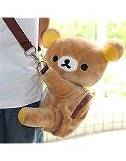 Mcttui Pluche rugzak gevulde tas speelgoed, pluche tas messenger bag cartoon tas voor kerstcadeau