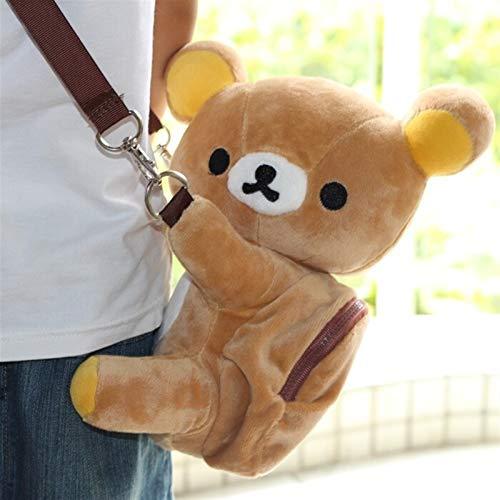 Mcttui Plüschrucksack gefüllte Taschenspielzeug, Plüschtasche Messenger Bag Cartoon Tasche