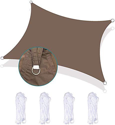 DFGH Resistente al Agua Mínimo de 1000 mm, Canopy 95% Anti-UV, Poliéster, Resistente a Desgarros Intemperie, para Patio del Jardín, Terraza, Camping