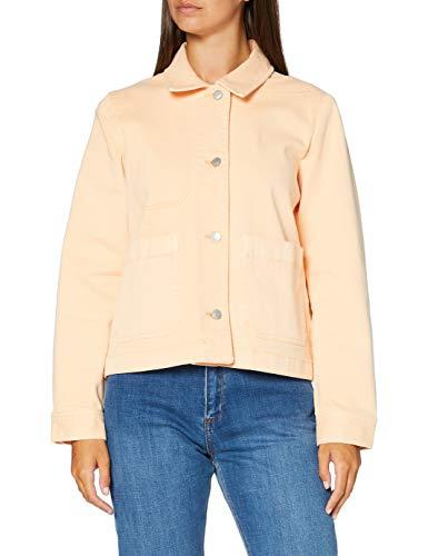 Tom Tailor Color Twill Denim Chaqueta de jean, 23057/Flor De Durazno, L para Mujer