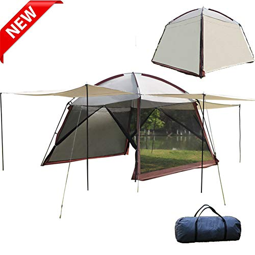 ZYQDRZ Outdoor Gauze Tent, Oversized Gazebo Awning Skimming, Can Be Used By 3-5 People, Stretchable, Easy To Carry, Portable And Waterproof For Beach Picnic