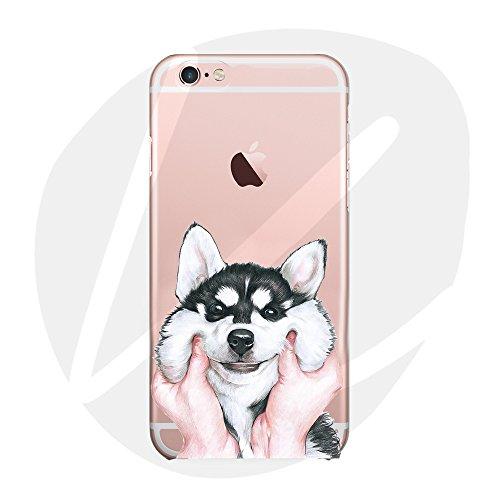 Sleeping bear) Case Cover per iPhone 7 Plus/8 Plus, Adorabile Animale Cane/Dog del Fumetto(Rauco Dog) del Telefono della Copertura della Caso Sottile TPU Custodia+Cordoncino-Husky