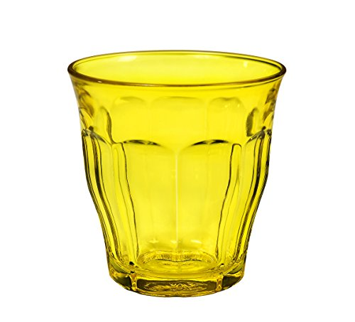 Duralex 1027SR06Picardie–Juego de 6Vasos de Cristal Amarillos 8,5cm.