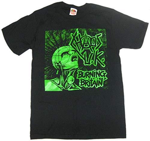 カオス UK Tシャツ Chaos U.K. Burning Britain ロックTシャツ関連 (XS)