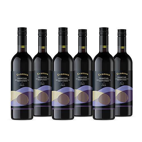 Evansea Rotwein Primitivo aus Italien (6x0,75L)