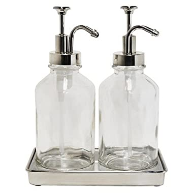 New ™ Double Soap Pump Oil Can Clear
