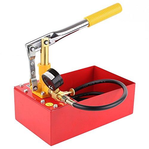 Fixkit 5L Pompa Prova di Pressione, Pompa per Testaggio Tubo dell'acqua di Sistema di Riscaldamento Tester a Mano