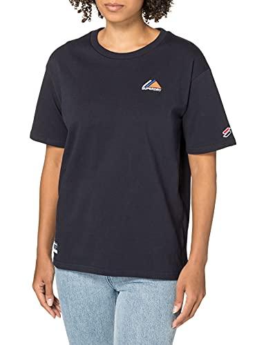 Superdry Mountain Sport EMB tee Camiseta, Azul Oscuro, M para Mujer