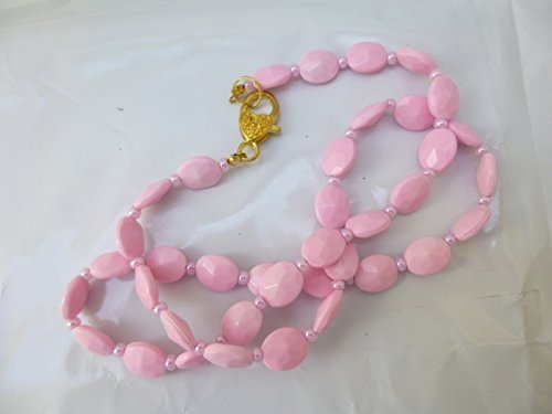 Shining Oval Faceted Necklace Beads Sale safety price Pink