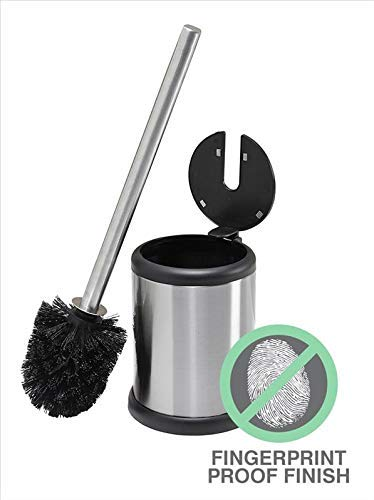 Bath Bliss Toilet Brush and Holder with Self Closing Lid