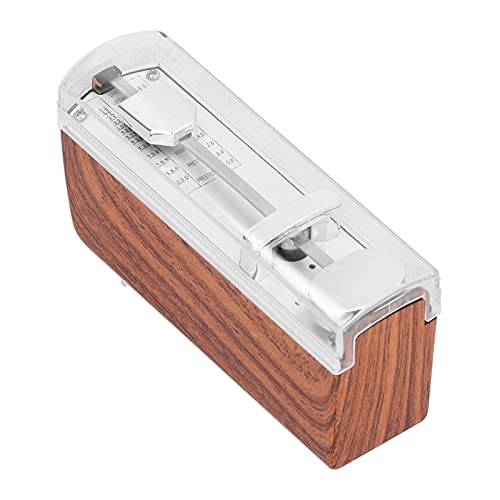 Metrónomo Mecánico, Mini Metrónomo Material ABS Mini Metrónomo Mecánico Para Guitarra Para Ukelele(Color madera)