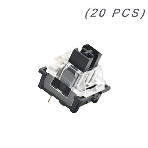 OUTEMU (Gaote) Black Switch 3 Pin Keyswitch DIY Replaceable Switches for Mechanical Gaming Keyboard (20 PCS)