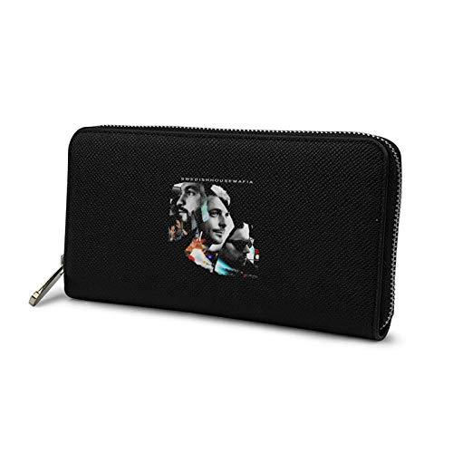 メンズ 長財布 ファスナー財布 ウォレット スウエディッシュ ハウス マフィア 薄い ブラック 小銭入れ 人気 ラウンドファスナー レザー 大容量 カード