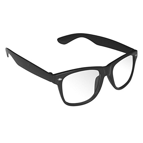 Outray Unisex Retro Wayfare Black Frame Clear Lens Glasses