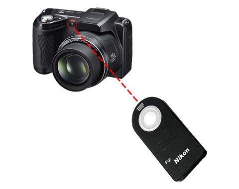 Mcoplus - Mando a distancia inalámbrico IR para Nikon D7100, D5200, P7100 P7700 D7000...