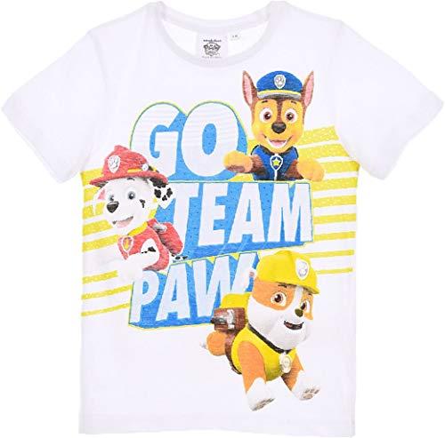 Paw Patrol Team Boys T-Shirt Weiß 116 (6 Jahre)