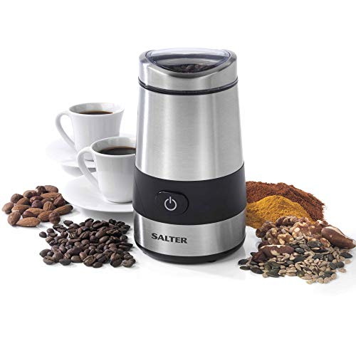 Salter EK2311 Electric Coffee and Spice Grinder, 60 g, 200 W, Stainless Steel, Silver