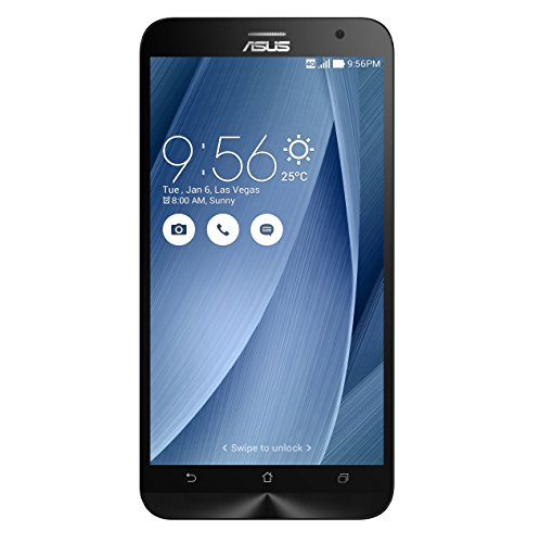 Asus Zenfone 2 - ZE551ML Android Smartphone (5.5 Zoll Full-HD Display, 13 MP Kamera, 32 GB interner Speicher, Intel Atom Z3580 Quad Core 2.3 GHz, 4 GB RAM, Dual-SIM) Silber