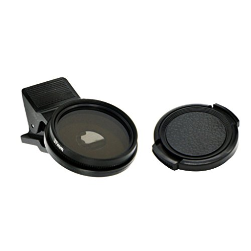 Homyl 37MM Professional Cell Phone Camera Circular Polarizer Lens for iPhone X / 8 / Plus/Samsung Galaxy/Windows and Android Smartphones