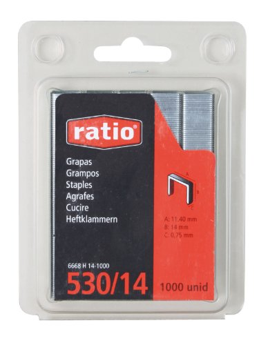 Ratio 6668H6-1000 - Grapas 530 6 Mm Blister 1000 Unid R