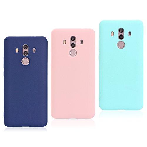 Huawei Mate 10 Pro Cover, Huawei Mate 10 Pro Handy Hülle, Asnlove 3 Pack TPU Handy Schutzhülle Handykappen Anti-Scratch Bumper Case mit Pure Motiv Silikon Schutzhülle Für Huawei Mate 10 Pro Smartphone