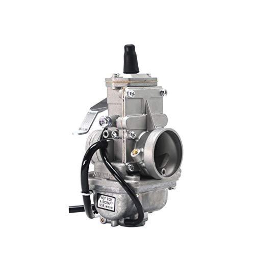 XIWEIG Carburador De La Motocicleta Carburador/Fit para - Mikuni / 24mm 28mm 30mm 32mm 34mm 38mm TM28 TM30 TM32 TM34 Smootherbore para Motor 2T (Color : 28mm)