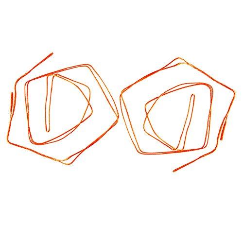 Upline uhmwpe Hängematte Whoopie Tragetücher Set der 2 verstellbare Camping-Seile, Orange
