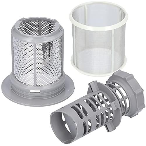 Kenekos - Sieb Mikrosieb Set 3-teilig kompatibel mit Geschirrspüler Siemens und Bosch Spülmaschine, wie 427903/00427903. Feinsieb Mikrofilter Filter Geschirrspüler 10002494