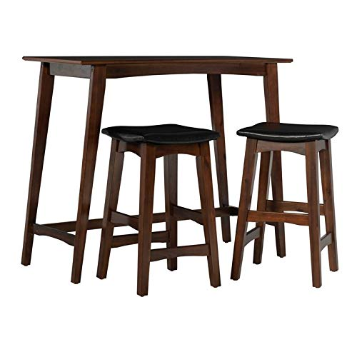 Linon Loren Rich Walnut Tavern Set