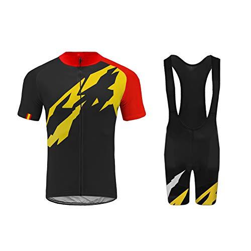UGLY FROG Ropa Ciclismo Verano para Hombre y Mujer - Un Conjunto de Ciclismo Jersey Maillot y Culotte Pantalones Cortos DTMX02