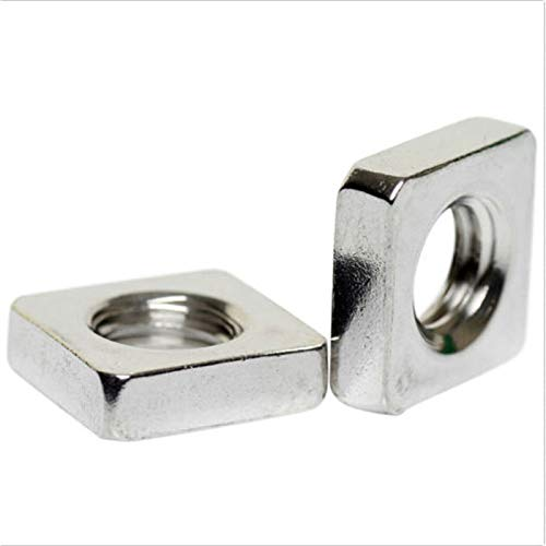 YUNSHUO M3 Stainless Steel Square Thin Nuts DIN 562, 100pcs, Thickness 1.8mm