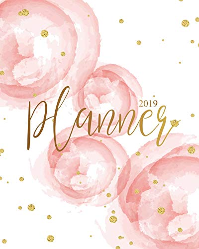 2019 Planner: Daily Weekly Monthly Calendar Planner - For Academic Agenda Schedule Organizer Logbook and Journal Notebook Planners With To To List - Pink Rose Gold Cover