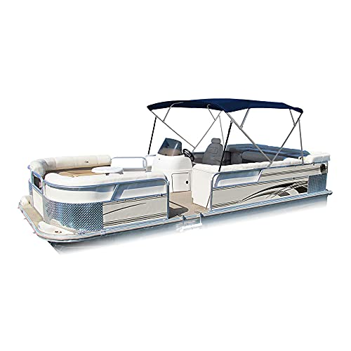 Eevelle Summerset Bimini Boat Top 4 Bow Frame with Hardware 8'L x 54' H x 90'-96'W