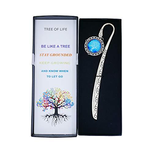 Sincerelforyou - Segnalibro in metallo con albero della vita, da donna, stile vintage, regalo sentimentale