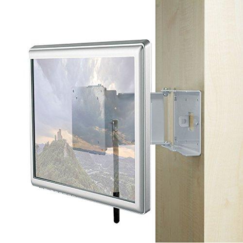 Caratec Flex CFW200G TV-Wandhalter mit 2 Drehpunkten, gespiegelte Version, verriegelbar, Stahl, LED-TVs und Geräte mit 75 oder 100 mm VESA-Befestigung, ideal für Wohnmobile