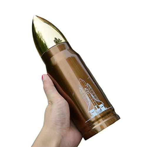 Deliu 304 Acero Inoxidable 500 Ml Vaso de Bala Botella de Agua Taza con Aislamiento al vacío Cobre