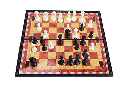 Juego,Ajedrez Magnético de Rompecabezas Ideal para niños y Adultos, Juegos al Aire Libre o Regalos.