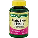 Best Hair Skin And Nails Vitamins - Spring Valley - Hair, Skin & Nails, Over Review