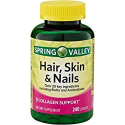 in budget affordable Spring Valley – Over 20 ingredients, 240 capsules, including hair, skin, nails, biotin and collagen