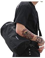 رياضة رياضة حقيبة التمرين خفيفة الوزن من القماش الخشن للرجال والنساء أسود صغير, , black1 - 897-109