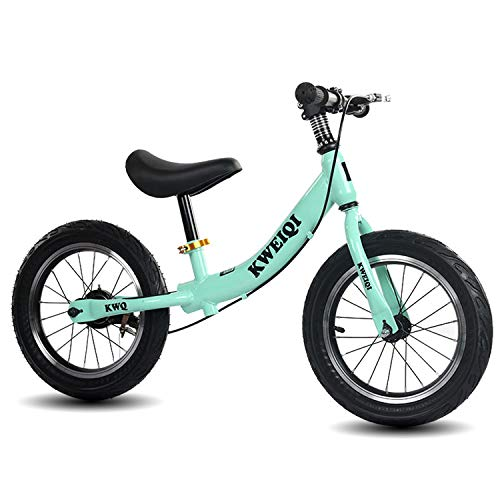 Bicicletta Bambini Senza Pedali 2-6 Anni, Bici Senza Pedali Balance Bike per l'Equilibrio, con Manubrio e Sellino Regolabili, Max 70 kg, Giochi Bambini 2-6 Anni,Verde