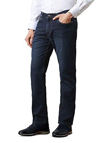 Walbusch Herren Jogger Jeans Five Pocket einfarbig Dark Blue 25