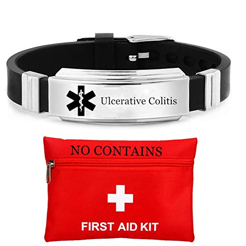 Personalized Silicone Medical Alert ID Wristband,Customized Medic Identification Alarm Bracelet for Women Men Boys Girls Disease Allergy Awareness Rubber Band for Adult Kids Emergency,Adjustable