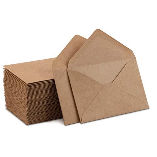 Mini-Umschläge, klein, für Geschenkkarten, Visitenkarten, 10,2 x 6,9 cm, 60 Stück Brown Kraft